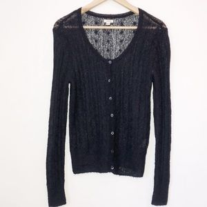 2/$25 Aerie Sheer Knit Button Up Cardigan Top